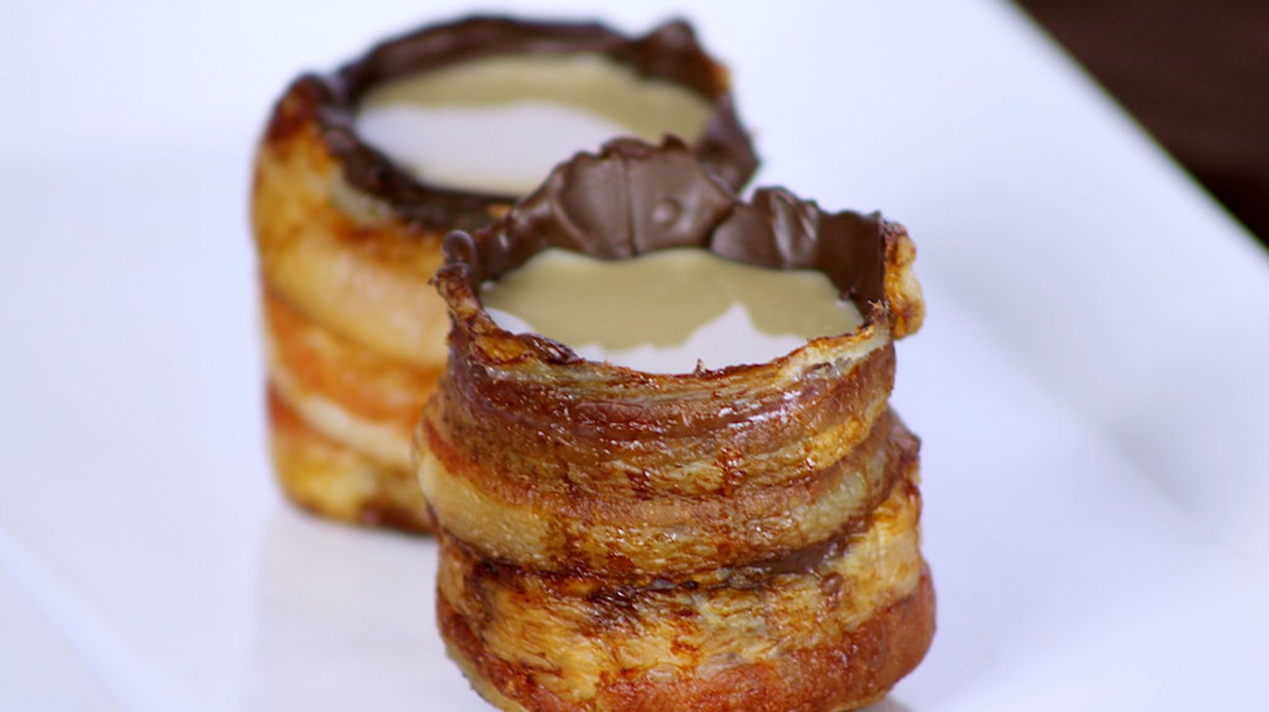 Bacon-Chocolate Shot Glasses Are Real, And You Can Make Them Too