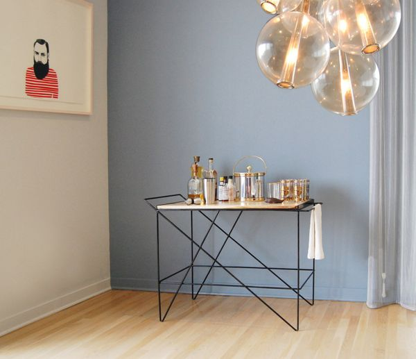 "There are many bar carts on Etsy, both vintage and modern, but we like the <strong><a href=""https://www.etsy.com/listing/2159"