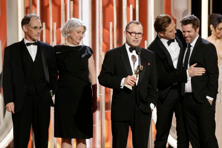 """Producer Colin Callender accepts the award for Best Television Limited Series or Motion Picture Made for Television for """"Wolf"""