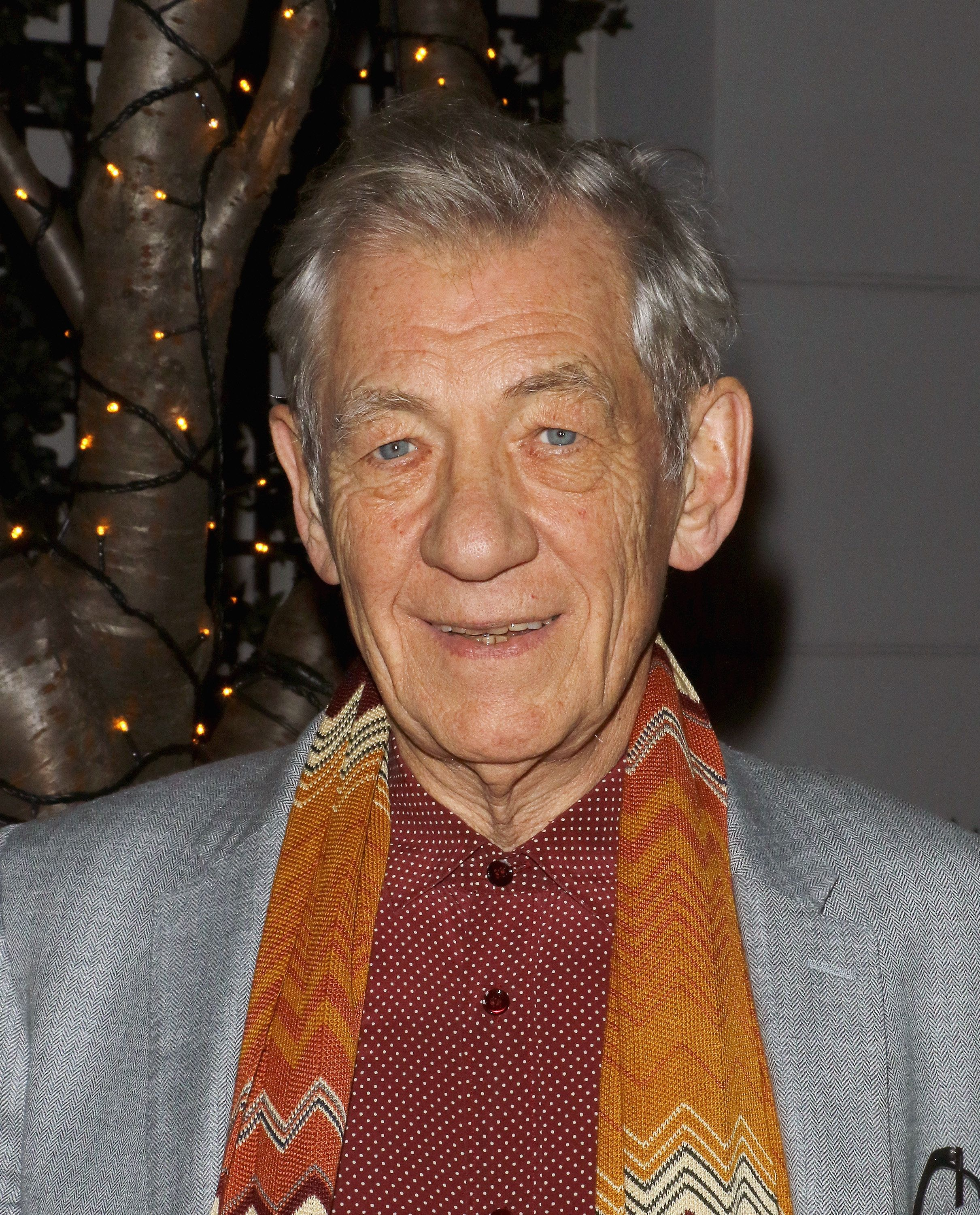 NEW YORK, NY - DECEMBER 03:  Actor Ian McKellen attends the after party for Sundance Selects' '45 Years' screening hosted by The Cinema Society with Lillet and NARS at Laduree Soho on December 3, 2015 in New York City.  (Photo by Jim Spellman/WireImage)