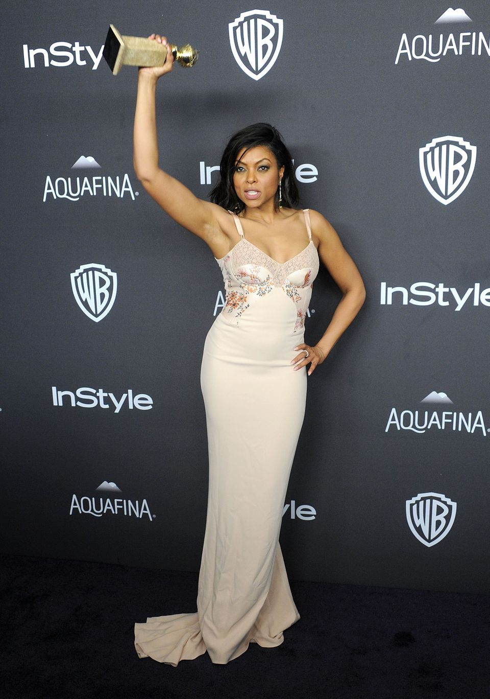 BEVERLY HILLS, CA - JANUARY 10:  Actress Taraji P. Henson arrives at the 2016 InStyle And Warner Bros. 73rd Annual Golden Glo