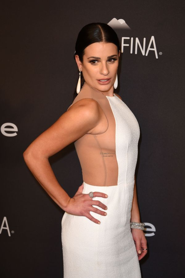 Actress Lea Michelle attends the 2016 InStyle And Warner Bros. 73rd Annual Golden Globes after party, in Beverly Hills, Calif