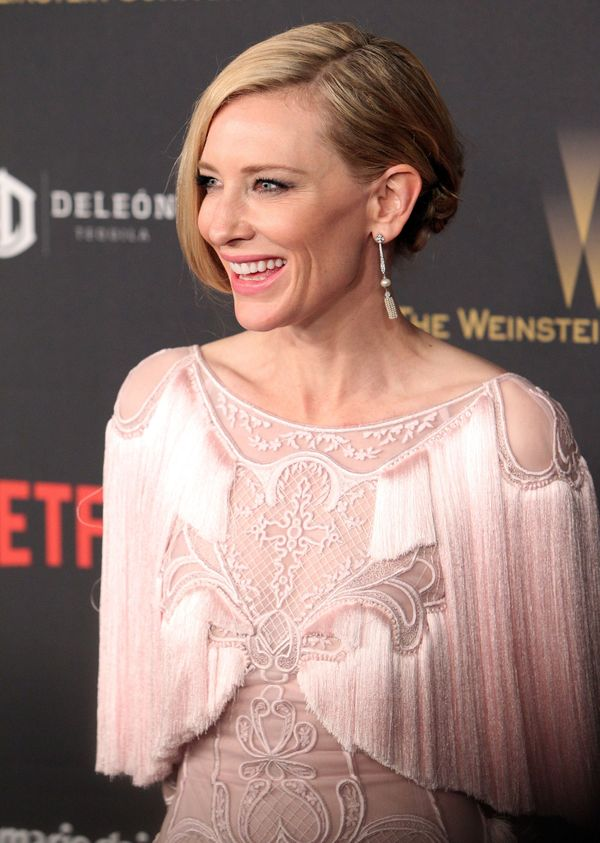 Actress Cate Blanchett attends the TWC/NETFLIX Golden Globe after party, in Beverly Hills, California, on January 10, 2016.