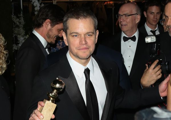 BEVERLY HILLS, CA - JANUARY 10:  Actor Matt Damon attends the Fox and FX's 2016 Golden Globe Awards Party on January 10, 2016
