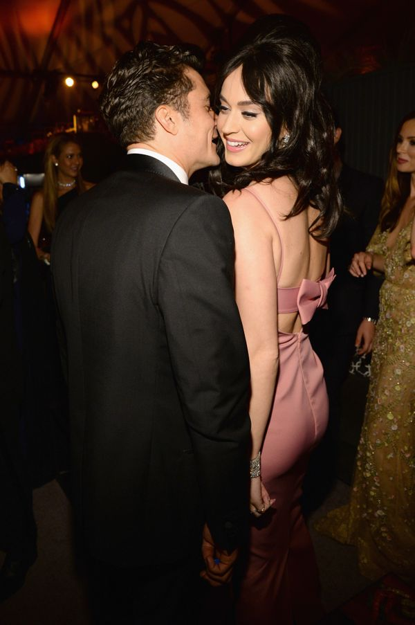 BEVERLY HILLS, CA - JANUARY 10:  Orlando Bloom and Katy Perry attend The Weinstein Company and Netflix Golden Globe Party, pr
