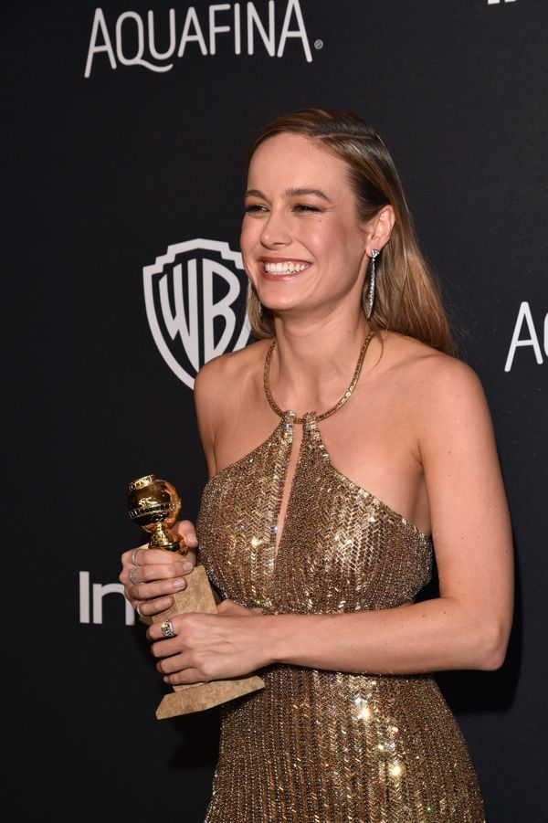BEVERLY HILLS, CA - JANUARY 10:  Actress Brie Larson, winner of Best Performance in a Motion Picture - Drama for 'Room,' atte