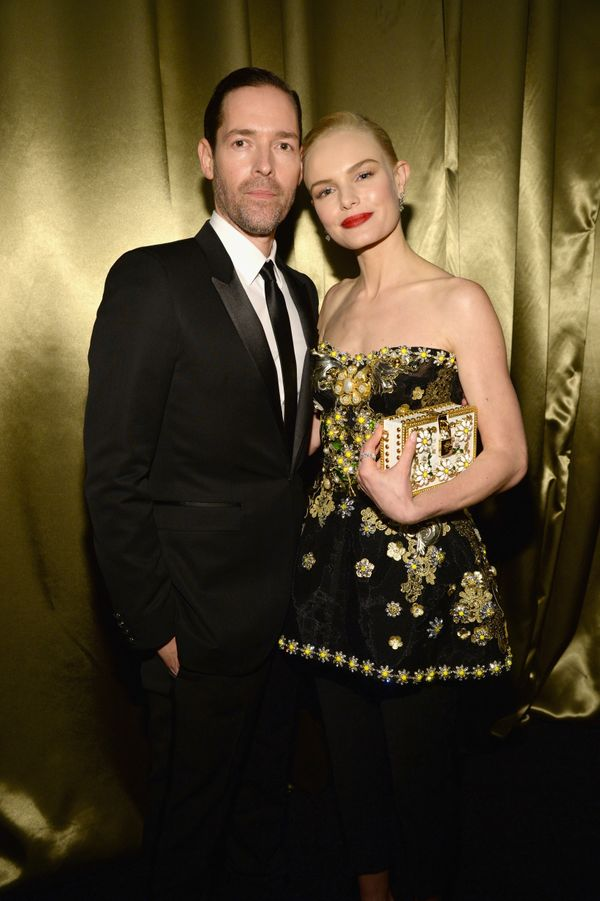 BEVERLY HILLS, CA - JANUARY 10:  Michael Polish  and Kate Bosworth attend The Weinstein Company and Netflix Golden Globe Part