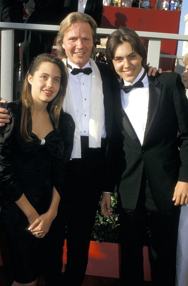 Angelina Jolie, Jon Voight, and Jamie Haven (Photo by Jim Smeal/WireImage)