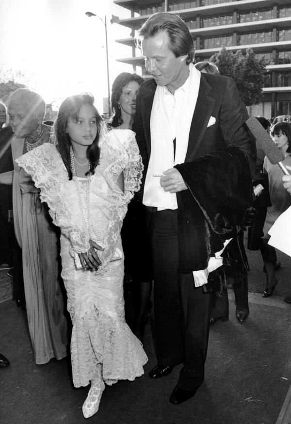 LOS ANGELES, CA - MARCH 24:  Angelina Jolie and Jon Voight attend 58th Annual Academy Awards on March 24, 1986 at the Dorothy