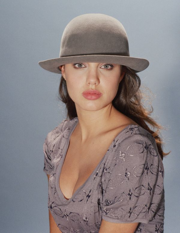LOS ANGELES - 1991: Actress Angelina Jolie poses for a portrait in 1991 in Los Angeles, California.  (Photo by Harry Langdon/