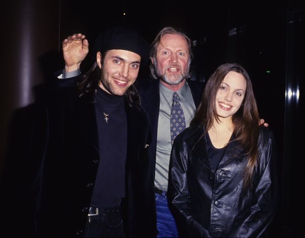 Jon Voight and Son James and Angelina Jolie (Photo by Steve Granitz Archive/WireImage)