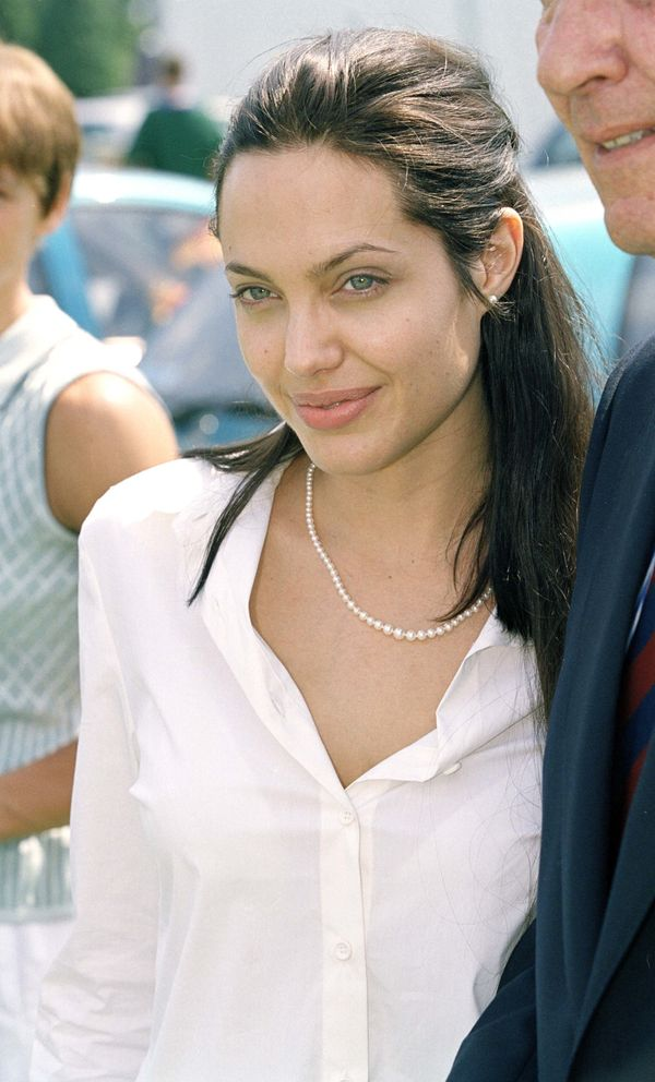Angelina Jolie Attends The 2000 Cartier International Polo Day At Guards Polo Club, Windsor. (Photo by Justin Goff\UK Press v