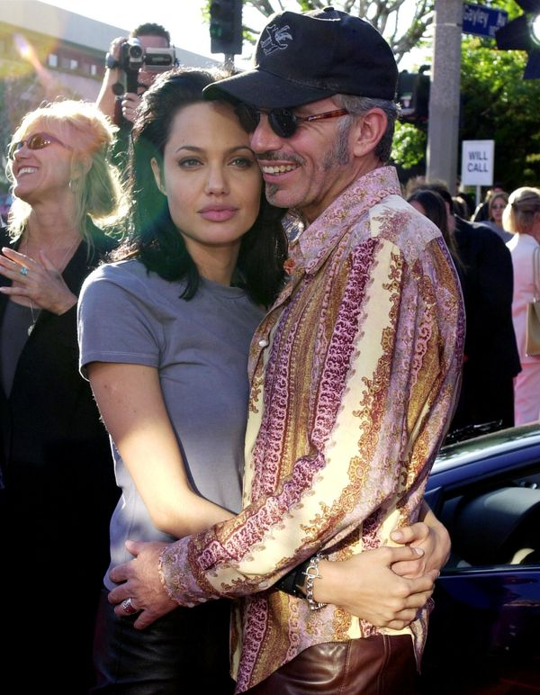 370498 02: (FILE PHOTO) Billy Bob Thornton and Angelina Jolie, pose for photographers, June 5, 2000 at the world premiere of
