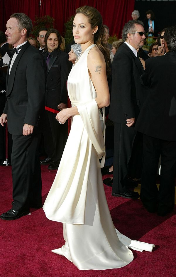 HOLLYWOOD, CA - FEBRUARY 29:  Actress Angelina Jolie attends the 76th Annual Academy Awards at the Kodak Theater on February