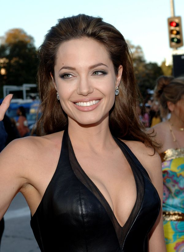 Angelina Jolie during 'Mr. And Mrs. Smith' Los Angeles Premiere - Red Carpet at Mann Village in Los Angeles, California, Unit