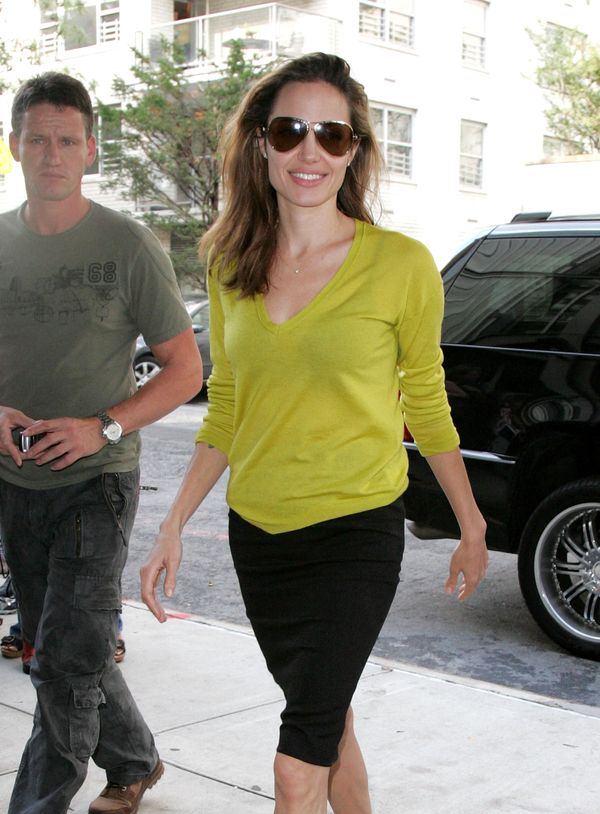 NEW YORK - OCTOBER 10:  Angelina Jolie sighting in New York City on October 10, 2007.  (Photo by James Devaney/WireImage)