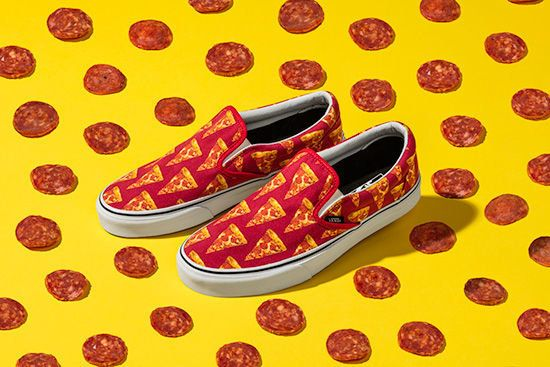 Vans  pepperoni pizza Classic Slip-Ons make running out the door to grab an 550aa735e