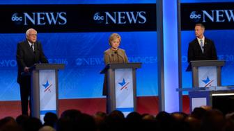 ABC NEWS - 12/19/15 - ABC News coverage of the Democratic Presidential debate from St. Anselm College in Manchester, NH, airing Saturday, Dec. 19, 2015 on the ABC Television Network and all ABC News platforms.   (Photo by Ida Mae Astute/ABC via Getty Images)
