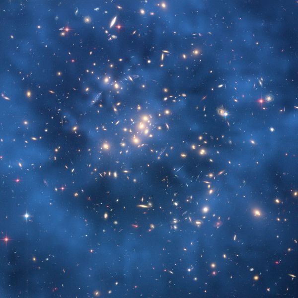 "Roughly 70 percent of the universe is made of <a href=""http://www.nasa.gov/subject/6891/dark-energy-and-dark-matter/"" target="