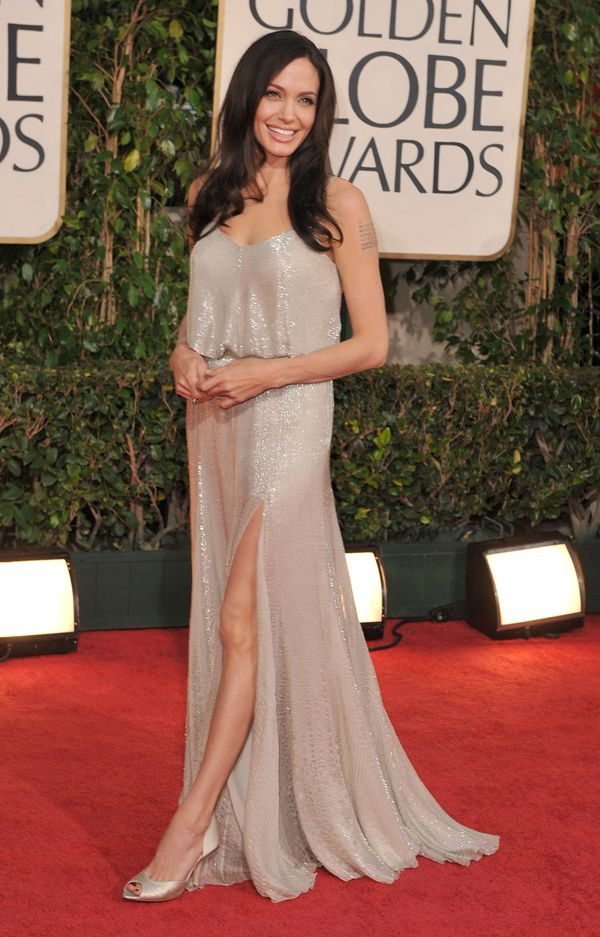 BEVERLY HILLS, CA - JANUARY 11:  Actress Angelina Jolie arrives at the 66th Annual Golden Globe Awards held at the Beverly Hi