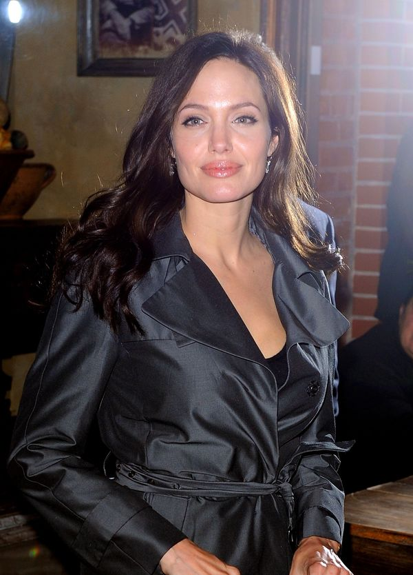 NEW YORK - OCTOBER 03:  Angelina Jolie seen leaving Il Buco restaurant on October 3, 2008 in New York City.  (Photo by James