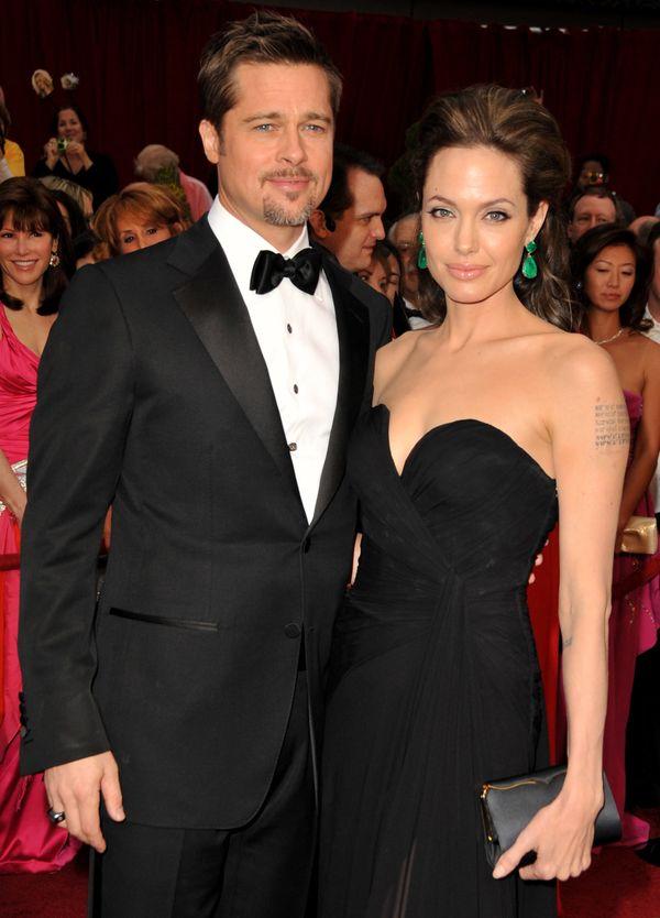 HOLLYWOOD - FEBRUARY 22: Brad Pitt and Angelina Jolie arrives at the 81st Academy Awards at The Kodak Theatre on February 22,