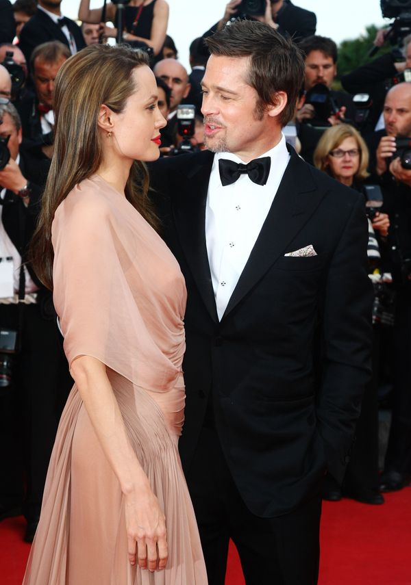 CANNES, FRANCE - MAY 20:  Actors Brad Pitt and Angelina Jolie attend the Inglourious Basterds Premiere held at the Palais Des