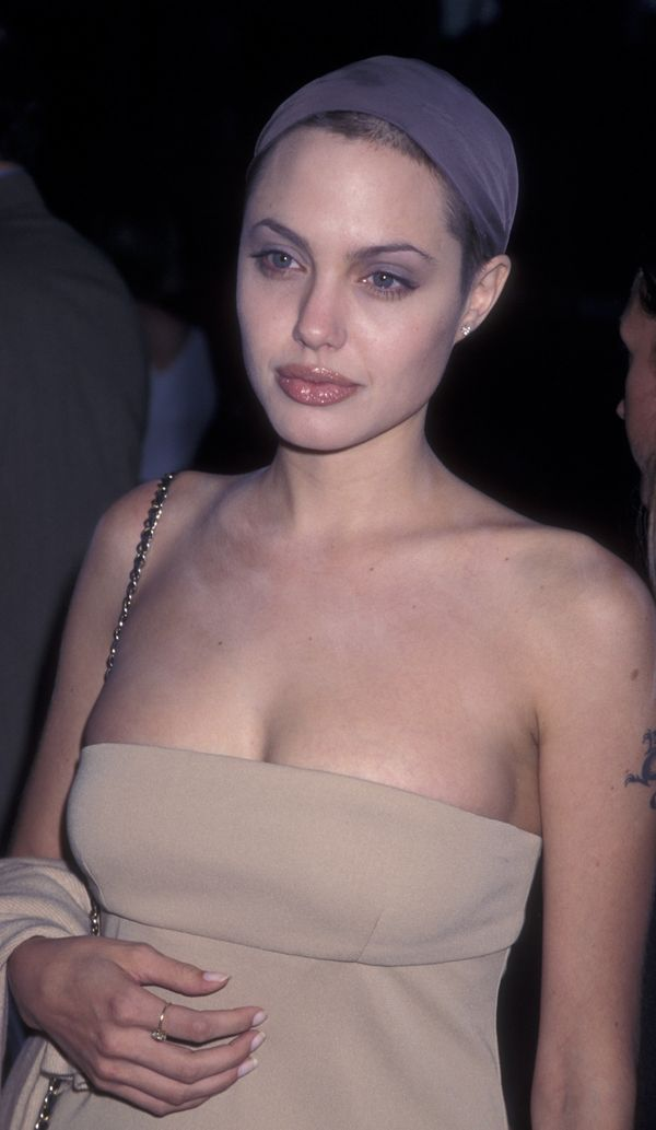 Actress Angelina Jolie attends the premiere of 'Wallace' on August 1, 1997 at the Director's Guild Theatr in Hollywood, Calif
