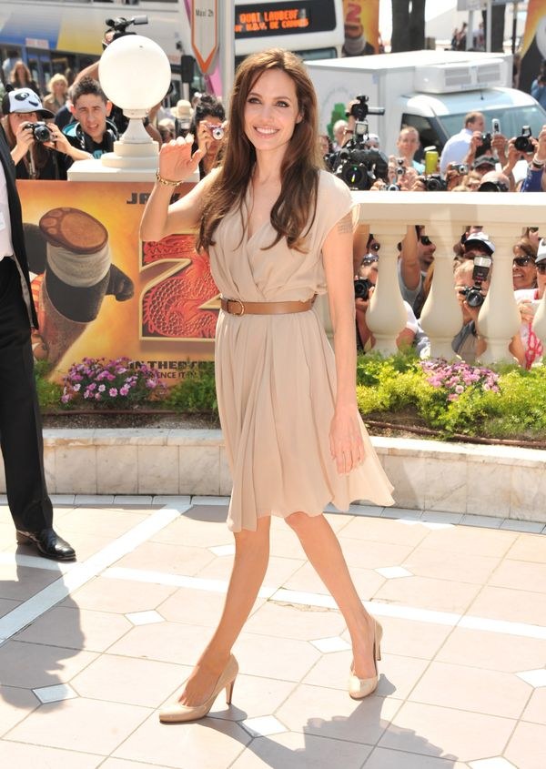 Angelina Jolie attends the 'Kung Fu Panda II' Photocall during the 64th Cannes Film Festival at the Carlton Hotel on May 12,