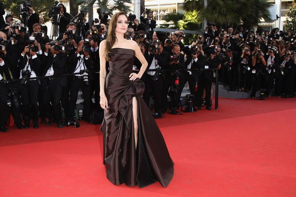 CANNES, FRANCE - MAY 16:  Actress Angelina Jolie attends 'The Tree Of Life' premiere during the 64th Annual Cannes Film Festi