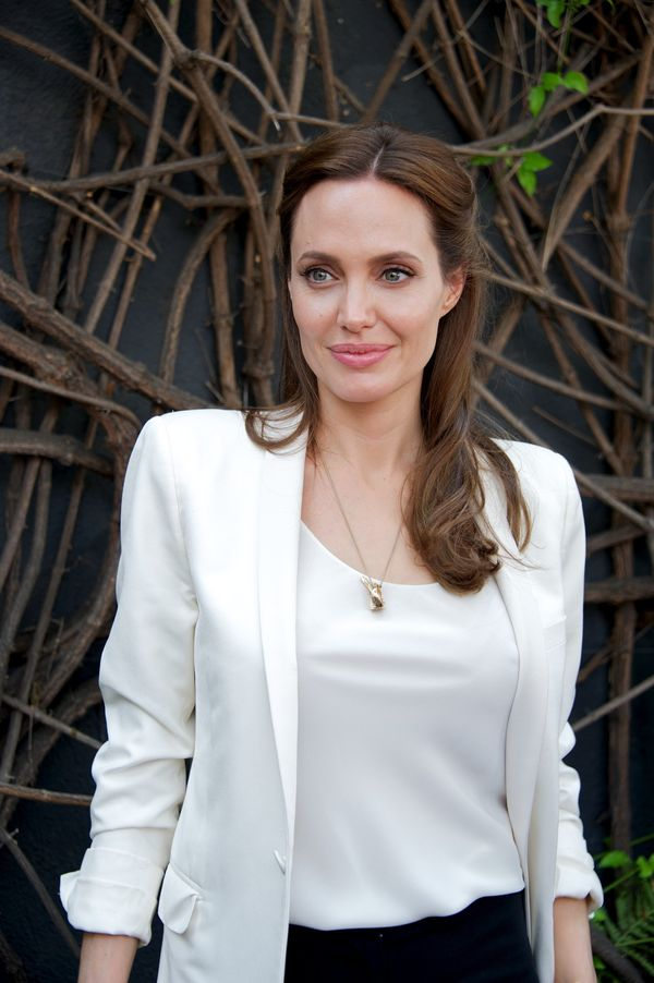 UNIVERSAL CITY, CA - JULY 29:  Angelina Jolie at the 'Unbroken' Press Conference at Universal Studios Hollywood on July 29, 2