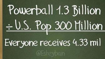 Powerball meme fails at math.