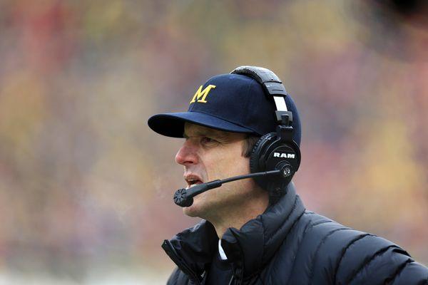 "Jim Harbaugh, head coach of the University of Michigan football team, <a href=""https://www.washingtonpost.com/news/dc-sports-"