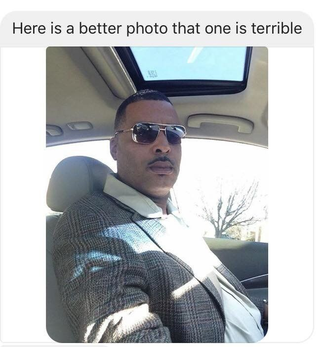 """Donald """"Chip"""" Pugh sent police a selfie because he didn't like the photo they were using."""