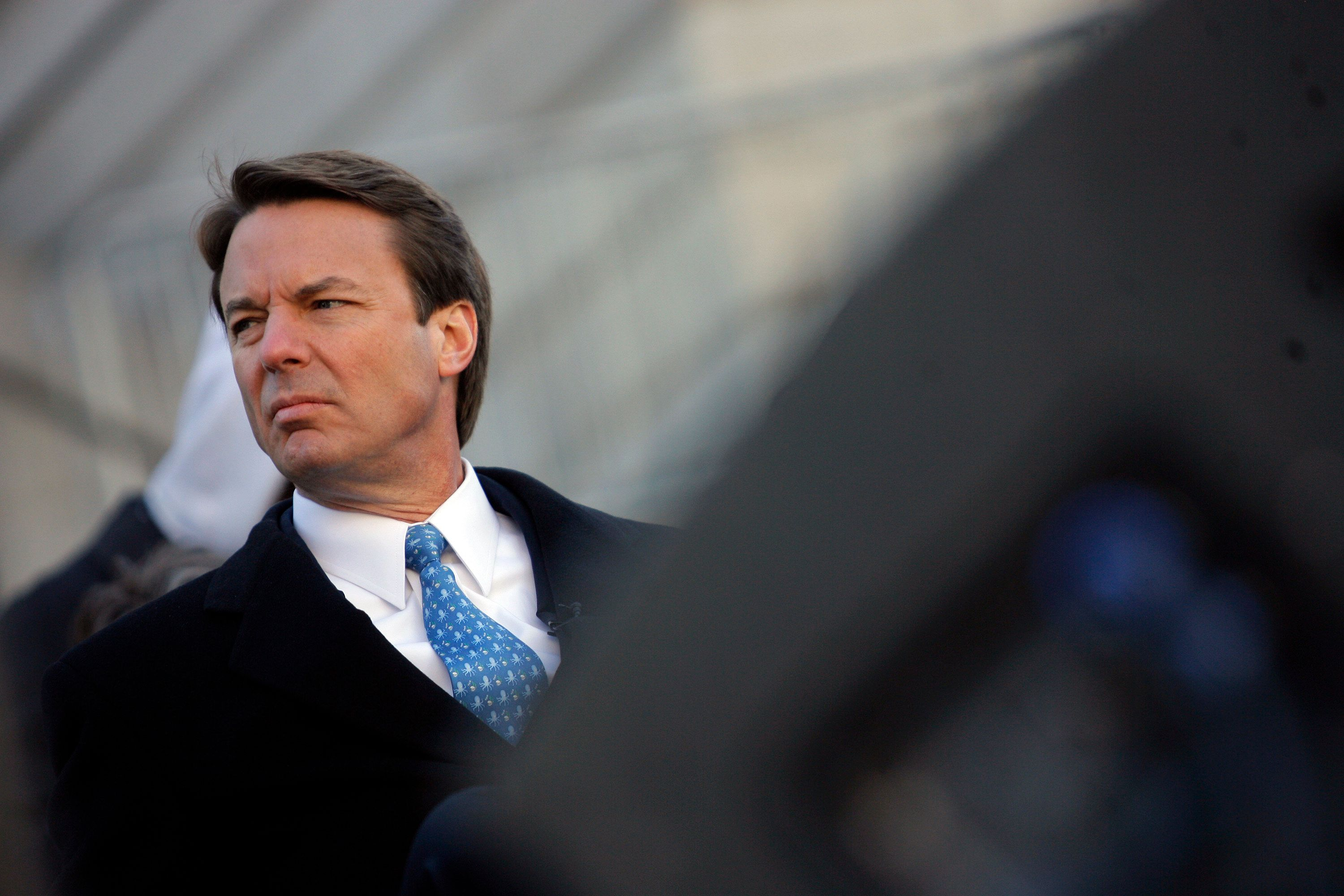 COLUMBIA, SC -  JANUARY 21:  U.S. Presidential candidate former U.S. Senator John Edwards (D-NC) waits to speak during a Martin Luther King Day rally at the state capitol January 21, 2008 in Columbia, South Carolina. Democratic presidential candidates were in the state campaigning Monday. (Photo by Eric Thayer/Getty Images)