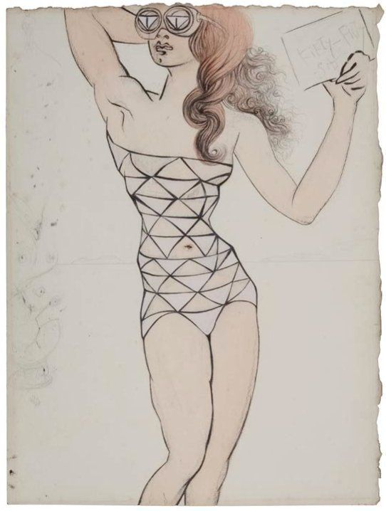 The Strange And Beautiful Fashion Drawings Of Salvador Dali