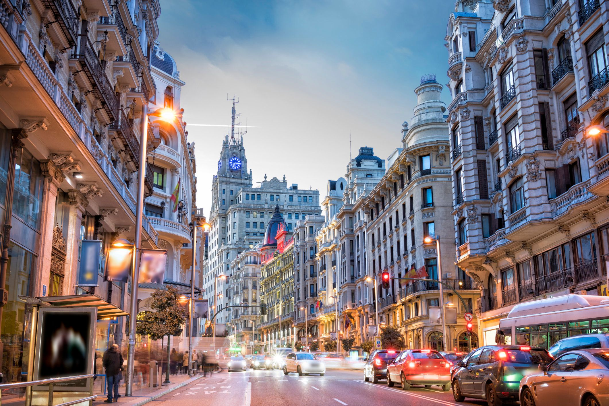 Take in the buzz of Gran Via, the epicenter of retail in Madrid.