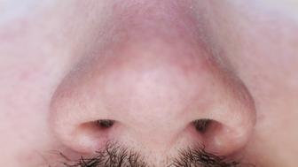 Close-up of man's nose