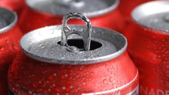 red cans of soft drink or beer