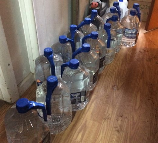 Like many other Flint residents, the Webbers are buying a lot of bottled water.