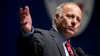 Representative Steve King, a Republican from Iowa, speaks during the South Carolina Freedom Summit hosted by Citizens United and Congressman Jeff Duncan in Greenville, South Carolina, U.S., on Saturday, May 9, 2015. The Freedom Summit brings grassroots activists from across South Carolina and the surrounding area to hear from conservative leaders and presidential hopefuls. Photographer: Andrew Harrer/Bloomberg via Getty Images
