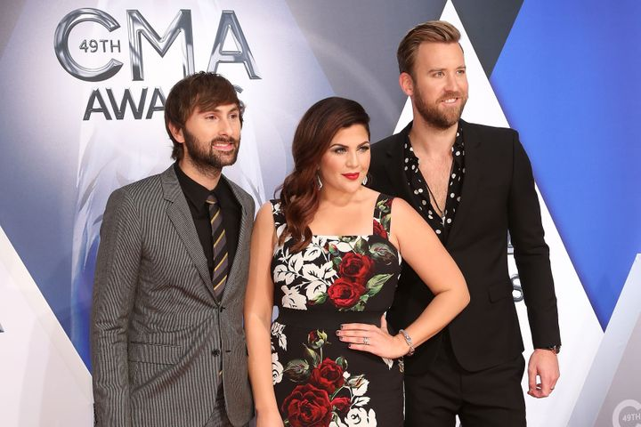 Dave Haywood, Hillary Scott and Charles Kelley of Lady Antebellum.