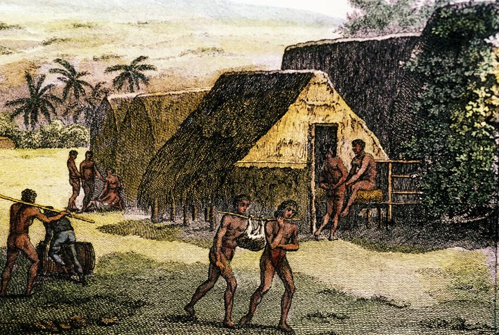 """Traditional grass huts called """"<a href=""""http://wehewehe.org/gsdl2.85/cgi-bin/hdict?a=q&r=1&hs=1&m=-1&o=-1&e=p-11000-00---off-0hdict--00-1----0-10-0---0---0direct-10-ED--4-------0-1lpm--11-haw-Zz-1---Zz-1-home---00-3-1-00-0--4----0-0-11-00-0utfZz-8-00&q=hale+pili&j=pm&af=1&fqf=ED"""" target=""""_blank"""" role=""""link"""" data-ylk=""""subsec:paragraph;itc:0;cpos:__RAPID_INDEX__;pos:__RAPID_SUBINDEX__;elm:context_link"""">hale pili</a>"""" served as shelter for ancient Hawaiians."""