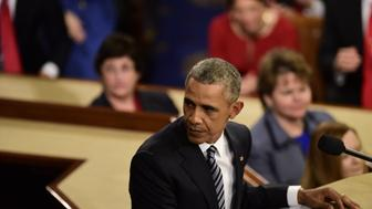 WASHINGTON, DC - JANUARY 12: US President Barack Obama delivers his State of the Union address before a joint session of Congress on January 12, 2016 at the US Capitol in Washington, DC.  (Photo by Melina Mara/The Washington Post via Getty Images)