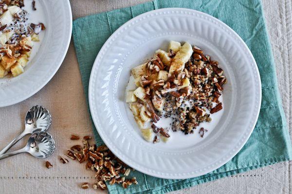 "<strong>Get the <a href=""http://www.howsweeteats.com/2012/04/breakfast-quinoa/"" target=""_blank"">Breakfast Quinoa recipe</a> f"