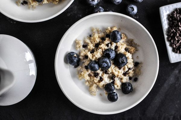 """<strong>Get the <a href=""""http://www.howsweeteats.com/2012/08/chocolate-chip-blueberry-breakfast-quinoa/"""" target=""""_blank"""">Choc"""