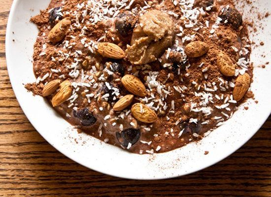 """<strong>Get the <a href=""""http://www.edibleperspective.com/home/2011/4/7/moo-milk.html"""">Chocolate Cherry Overnight Oats recipe"""