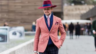 FLORENCE, ITALY - JANUARY 12: Loir Mickael during Pitti Uomo 89 on January 12, 2016, in Florence, Italy (Photo by Christian Vierig/Getty Images)