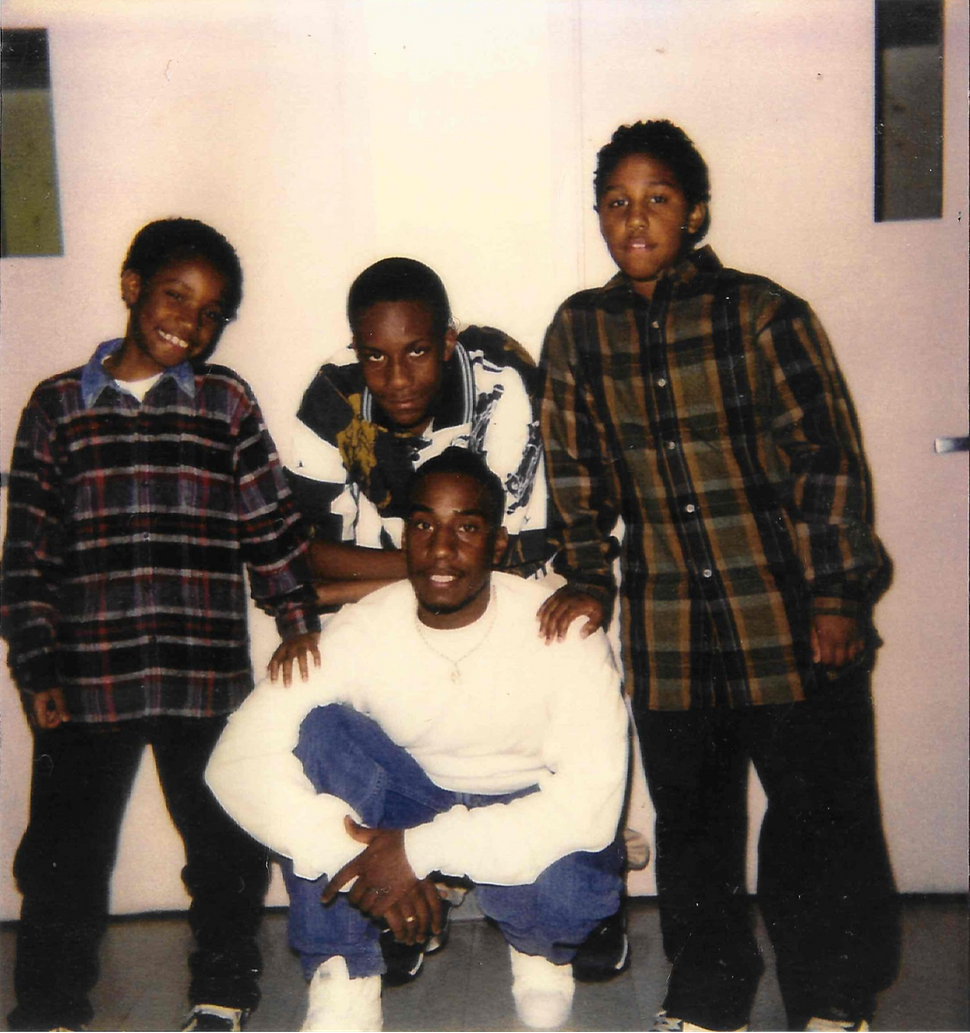 Jones with his sons at Bridgewater Correctional Complex about ten years after his conviction.