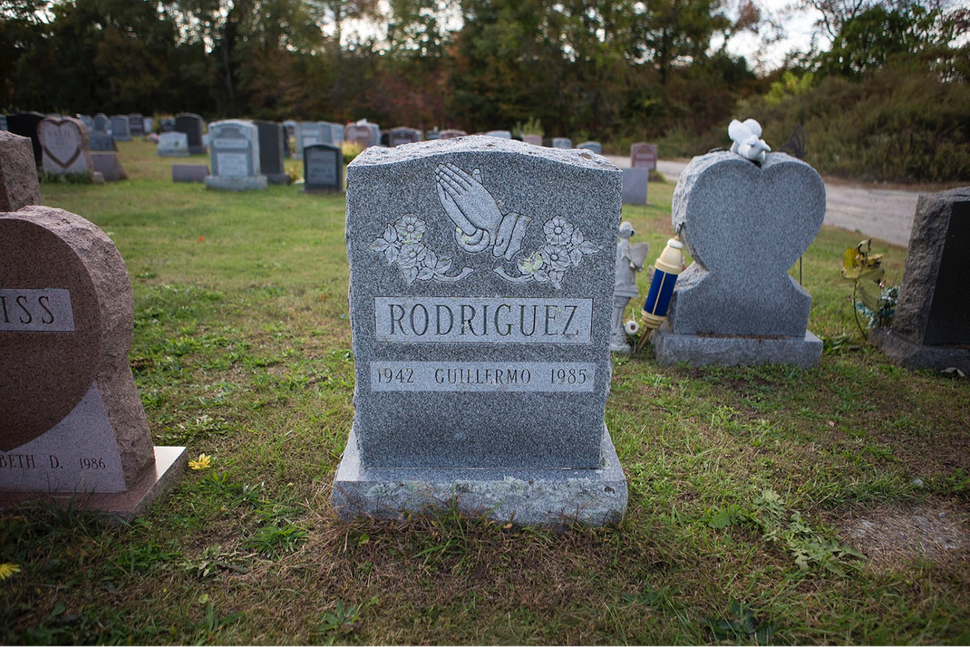 <i>The gravestone of Guillermo Rodriguez.</i>